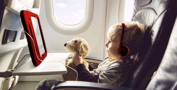 consejos para volar con niños