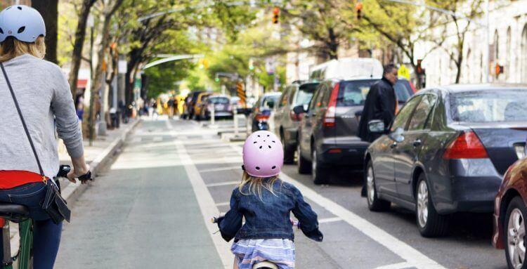 circular en bicicleta sin peligro