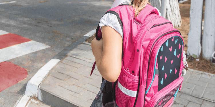Little girl crossing the road safely.jpg