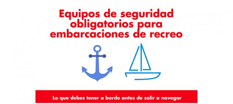 Equipos de seguridad obligatorios para embarcaciones de recreo