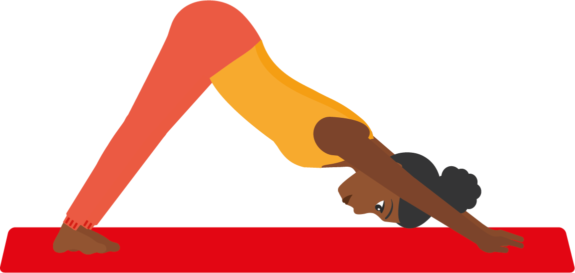 Postura perro bocabajo